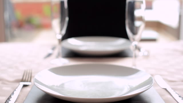 tilt shot of dinner for two - elegance stock videos & royalty-free footage