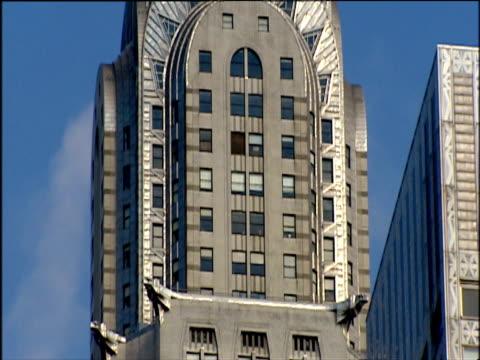 tilt up art deco spire of chrysler building manhattan - spire stock videos & royalty-free footage