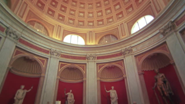 tilt up footage of pantheon interior - pantheon rome stock videos and b-roll footage