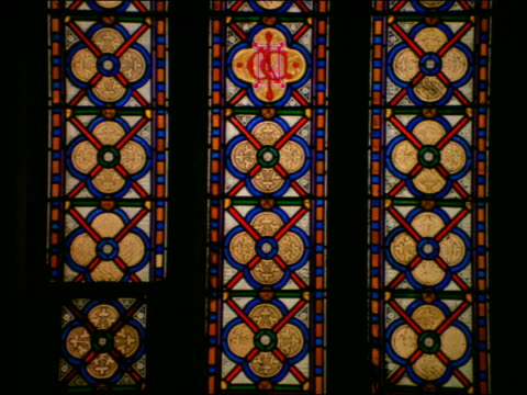 tilt up from bottom to top of stained glass windows