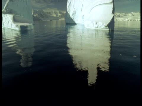 stockvideo's en b-roll-footage met tilt up from reflection to iceberg, antarctica - ruimte exploratie