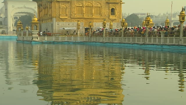 Tilt up golden temple amritsar punjab