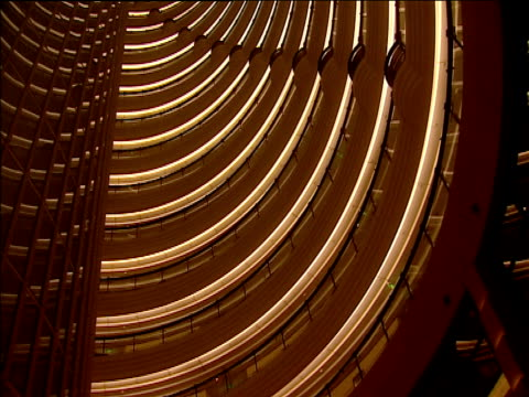 Tilt up interior of Jin Mao Tower Shanghai