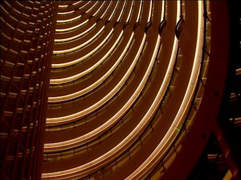 Tilt up interior of Jin Mao Tower Shanghai