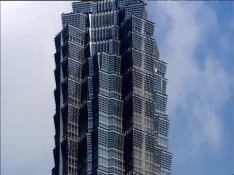 tilt up jin mao tower shanghai - jin mao tower stock videos & royalty-free footage