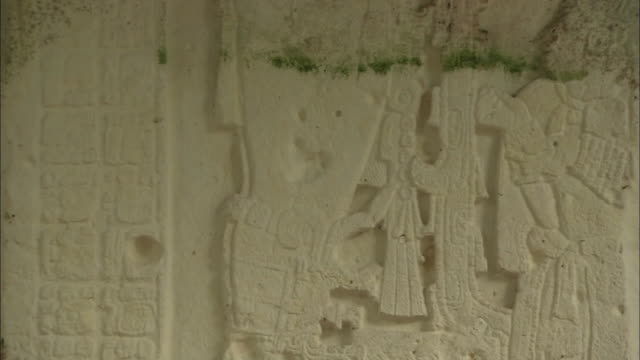 tilt up mayan reliefs - pre columbian stock videos & royalty-free footage