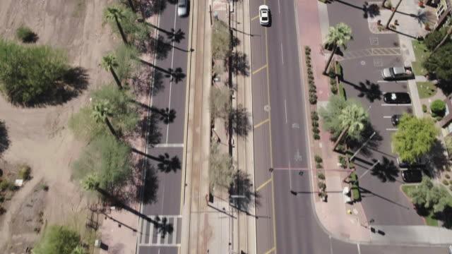 Tilt up over main street in downtown Phoenix, AZ