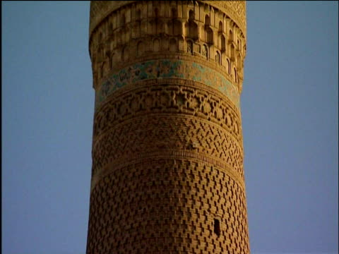 Tilt up patterned minaret Bukhara