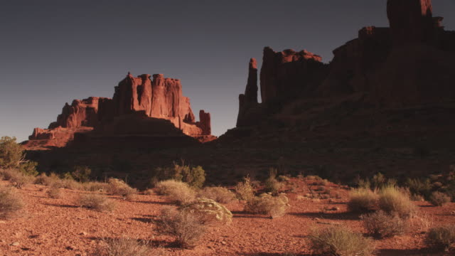 tilt up, scenic rock face landscape in utah - rock face stock videos & royalty-free footage