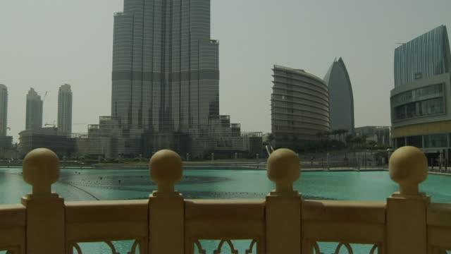 Tilt Up Shot Burj Khalifa Dubai United Arab Emirates