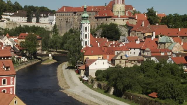 Tilt Up Shot Cesky Krumlov Castle Cesky Krumlov Bohemia Czech Republic
