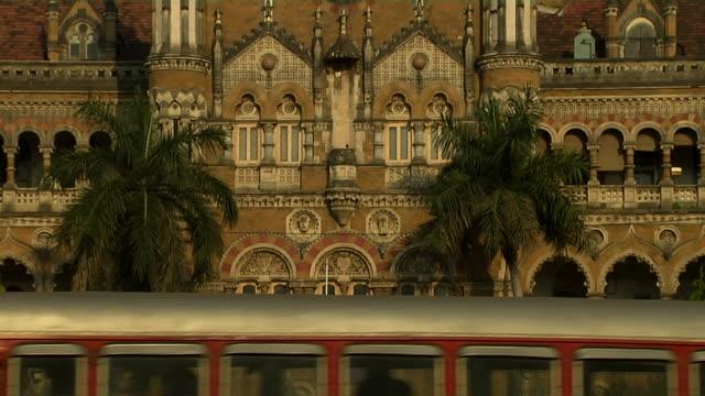 Tilt up shot chatrapati shivaji terminus mumbai maharashtra