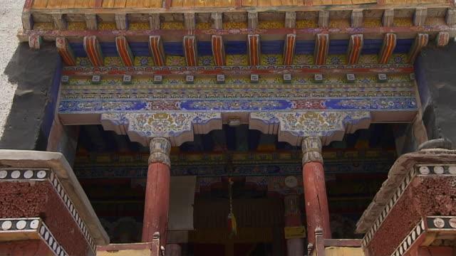 tilt up shot hemis monastery leh jammu and kashmir india - monument stock videos & royalty-free footage
