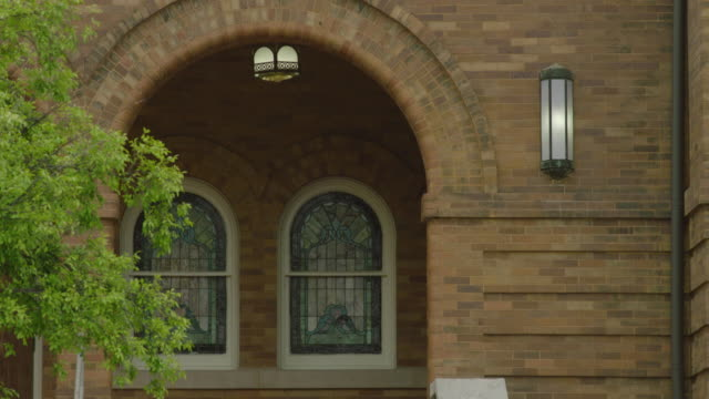 tilt up shot of the entrance of the 16th street baptist church - 1963 stock videos & royalty-free footage