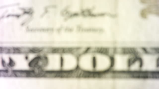 tilt up to the department of the treasury symbol on the $20 bill - twenty us dollar note stock videos & royalty-free footage