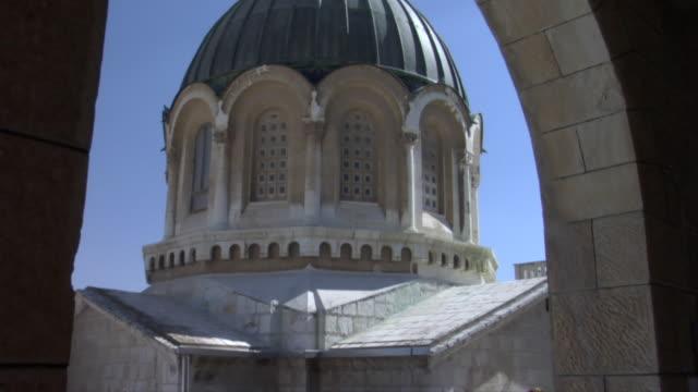 tilt up to the ecce homo church dome - via dolorosa stock videos & royalty-free footage