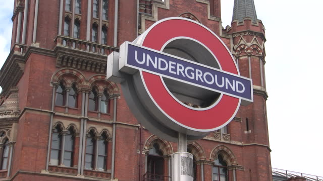 tilt up to the underground roundel in london, england on july 11, 2018. - music or celebrities or fashion or film industry or film premiere or youth culture or novelty item or vacations stock videos & royalty-free footage