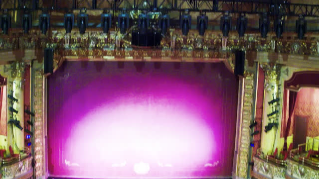 tilt-down in the elgin and winter garden theatres on may 27, 2017; in toronto, ontario, canada. the landmark is located in the downtown district... - landmark theatres stock videos & royalty-free footage