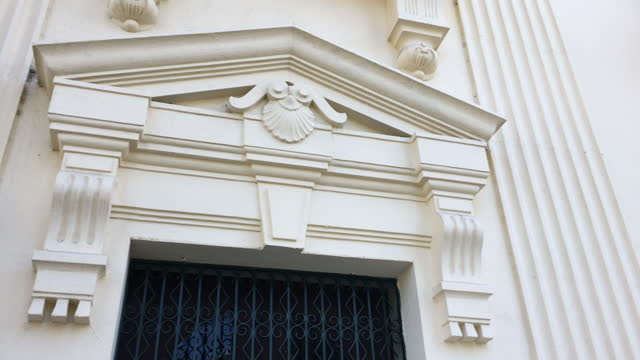tilt-down of the architecture of the jose marti public library located in the leoncio vidal park on may 06, 2016; in santa clara, villa clara, cuba.... - cream coloured stock videos & royalty-free footage