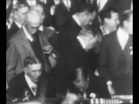 tiltdown shot crowd at madison square garden in new york city ny cheer wave handkerchiefs and small flags at 1928 campaign event for republican us... - political party stock videos & royalty-free footage