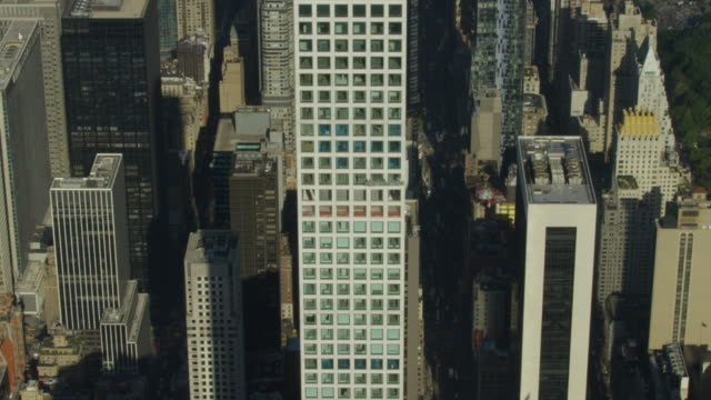 Tilt-down shot of the 432 Park Avenue