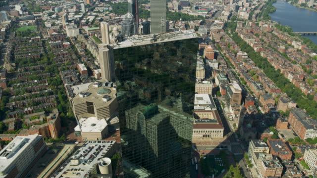 tilt-down shot of the john hancock tower - back bay boston stock videos & royalty-free footage