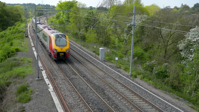 A Tilting diesel passenger train on the West Coast Mainline.