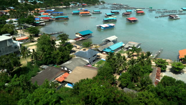 tilt:modern house and old-fashion house at koh yor village - songkhla province stock videos and b-roll footage