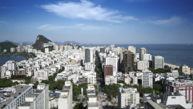 TL, Tilt-shift view of Ipanema and Leblon / Rio de Janeiro, Brazil