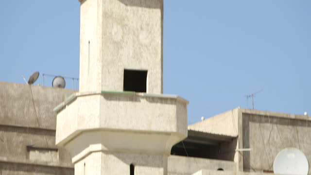 tilt-up a mosque minaret. - jiddah stock videos & royalty-free footage