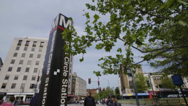 tilt-up of dupont circle metro station in dc - dupont circle stock videos & royalty-free footage