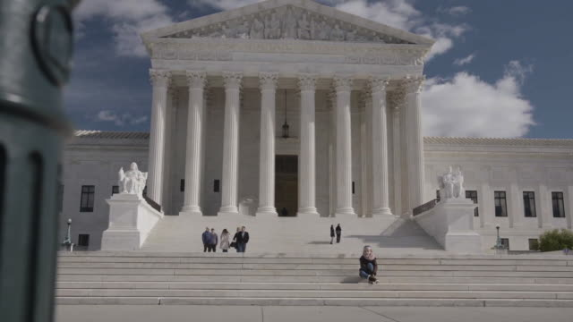 tilt-up of the supreme court of the united states in dc - supreme court stock videos & royalty-free footage