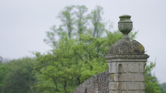 tilt-up shot of an old stone wall in the english countryside - medium shot stock videos & royalty-free footage