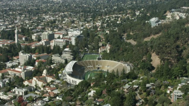 Tilt-up shot of the California Memorial Stadium