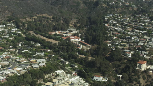 tilt-up shot of the getty villa in malibu - pacific palisades stock videos & royalty-free footage