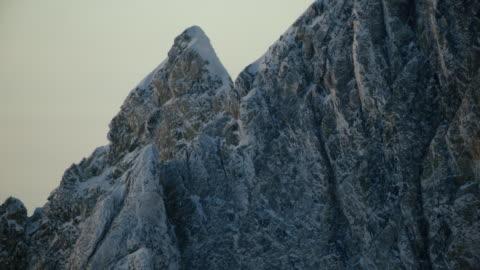 tilt-up shot of the peak of the middle teton - teton range stock videos & royalty-free footage