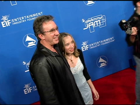tim allen and daughter at the grammy jam celebrating the music of earth wind and fire at the wiltern theater in los angeles california on december 11... - tim allen stock videos and b-roll footage