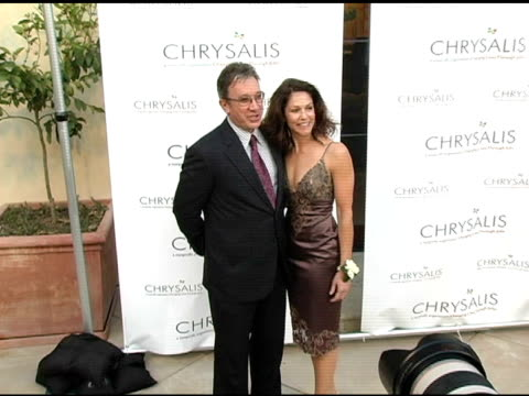 tim allen and jane hajduk at the chrysalis' fourth annual butterfly ball at private residence in bel air california on april 9 2005 - tim allen stock videos and b-roll footage