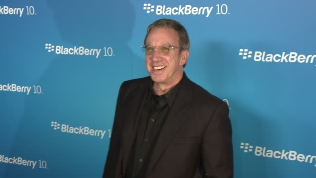 tim allen at blackberry celebrates the launch of blackberry z10 smartphone on 3/20/13 in los angeles ca - tim allen stock videos and b-roll footage