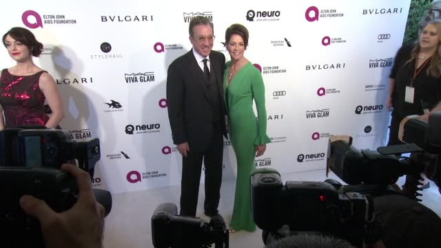 tim allen at elton john aids foundation presents 24th annual academy awards viewing party on february 28 2016 in west hollywood california - tim allen stock videos and b-roll footage