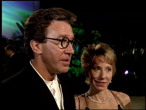tim allen at the 1995 academy awards morton party at morton's in west hollywood california on march 27 1995 - 67th annual academy awards stock videos & royalty-free footage
