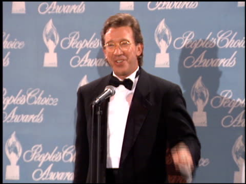 tim allen at the 1996 people's choice awards at universal studios in universal city california on march 10 1996 - tim allen stock videos and b-roll footage
