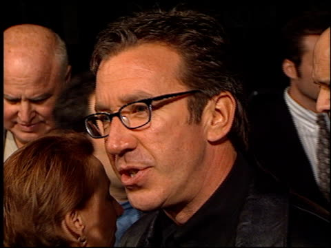 tim allen at the 'beloved' premiere at the bruin theatre in westwood california on october 12 1998 - 1998 stock videos & royalty-free footage