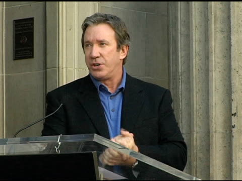 tim allen at the dedication of tim allen's star on the 'hollywood walk of fame' at hollywood boulevard in hollywood california on november 19 2004 - tim allen stock videos and b-roll footage