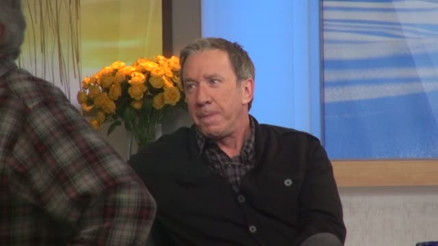 tim allen at the 'good morning america' studio in new york ny on 1/31/13 - tim allen stock videos and b-roll footage