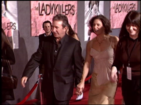 tim allen at the premiere of 'the ladykillers' at the el capitan theatre in hollywood california on march 12 2004 - tim allen stock videos and b-roll footage