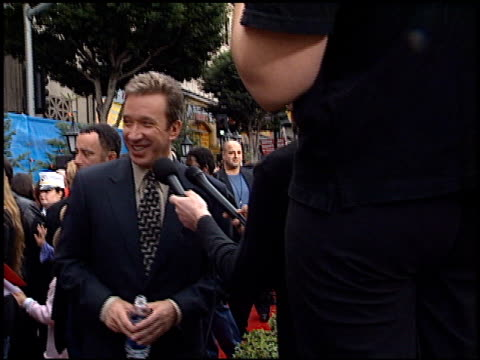 tim allen at the premiere of 'the santa clause ii' at the el capitan theatre in hollywood california on october 27 2002 - tim allen stock videos and b-roll footage
