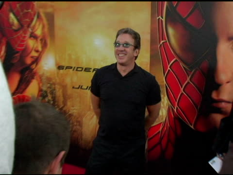 tim allen at the 'spider-man 2' los angeles premiere arrivals at the mann village theatre in westwood, california on june 22, 2004. - westwood video stock e b–roll