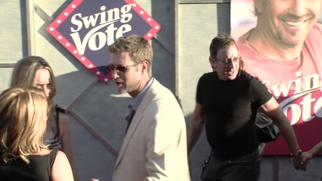 tim allen at the 'swing vote' premiere at los angeles ca - tim allen stock videos and b-roll footage