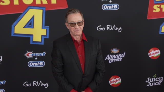 tim allen at the world premiere of toy story 4 at el capitan theatre on june 11 2019 in los angeles california - tim allen stock videos and b-roll footage